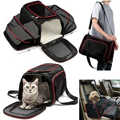Portable Foldable Pet Carrier Dog Cat Car Seat Travel Handbag Kennel Bag Cage