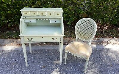Exceptionnel Vintage Jasper Cabinet Ladies Childs Roll Top Desk And Chair