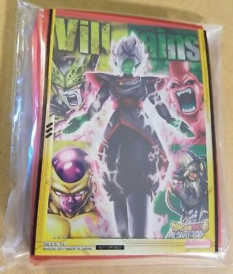 Bandai Dragon Ball Super Union Force Villains Card Sleeves New