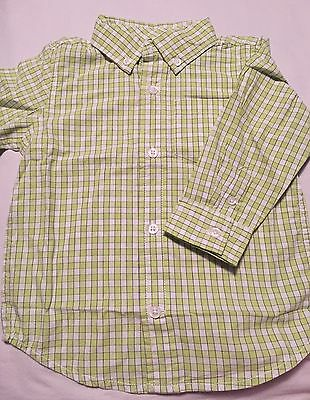 Gymboree Lawn Party Boys Dressy Long Sleeve Button Up Shirt Size18-24 Months Nwt