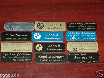 Custom Personalized Engraved Name plate tag many colors