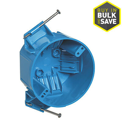 15 Pcs Gang Blue PVC Interior New Work Standard Round Ceiling Electrical Box  Zip