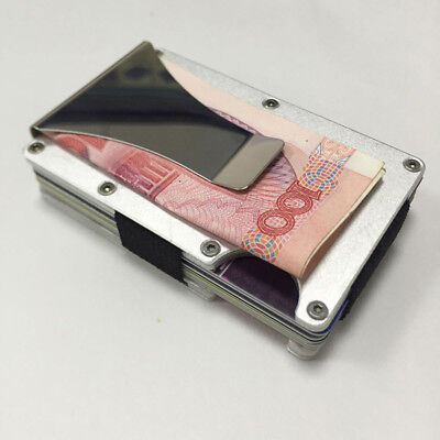 New RFID Metal Wallet Blocking Minimalist Wallets Credit card Holders Money Clip