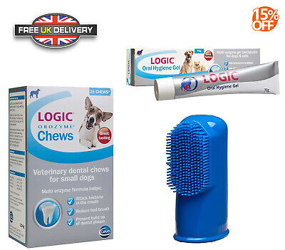 LOGIC Oral Hygiene Dental Pet Dogs & Cats Removes Plaque Teeth Cleaner  NEW