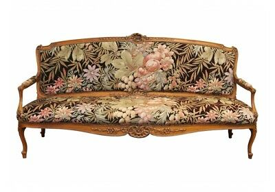 Antique Rococo Style Carved Walnut Canape Sofa Settee (40803)