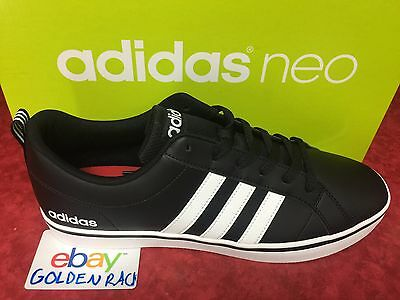 843ace2d2eb5 ADIDAS NEO VS Pace B74494 Men s Black White Leather Shoes Size 9-12 ...