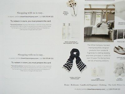 THE WHITE COMPANY 15% OFF COUPON VOUCHER till 24th April 2018 INTRODUCTORY OFFER