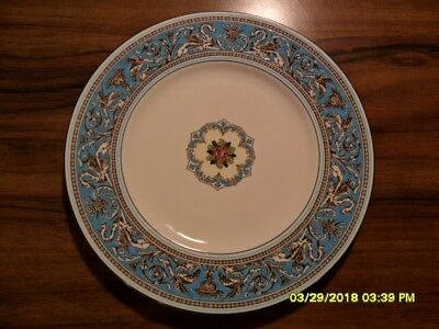 WEDGWOOD china FLORENTINE TURQUOISE W2714 pattern Dinner Plate - 10-3/4""
