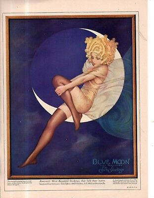 1928 Original Blue Moon Hosiery ad - Very Rare