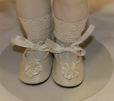 "German style shoes  antique bisque or vintage composition doll 2"" long sz8"
