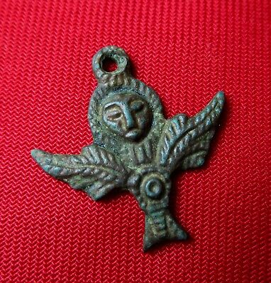 Celtic Goddess - Ancient Celtic Bronze Talisman / Pendant . 300 Bc