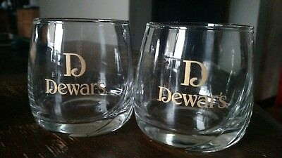 Dewaru0027s Scotch Whiskey Barware Glasses Classic Logo Set ...