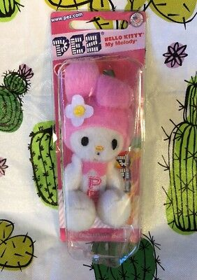 PEZ PLUSH my melody by hello kitty toy candy dispenser
