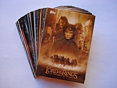 2002 Topps *lord Of The Rings Fellowhsip Update* Near Complete Base Set 71/72