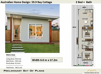 House Plan For Kit Home - NSW Granny Flat Home Design 2 Bedroom : Sale Item
