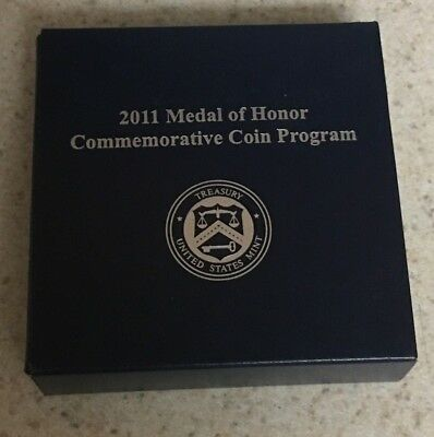 2011 Medal Of Honor Commemorative Proof Silver Dollar Box And Coa ~ Tradernick