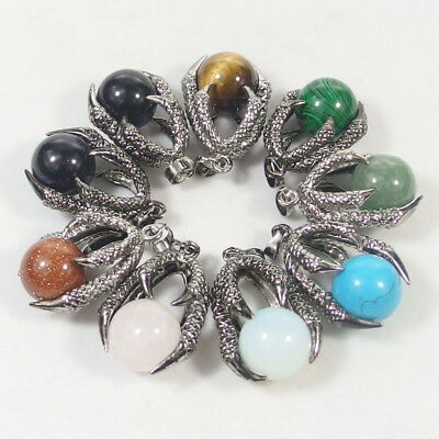 16mm natural gemstone beads charms stone dragon claw cpendant jasper agate opal