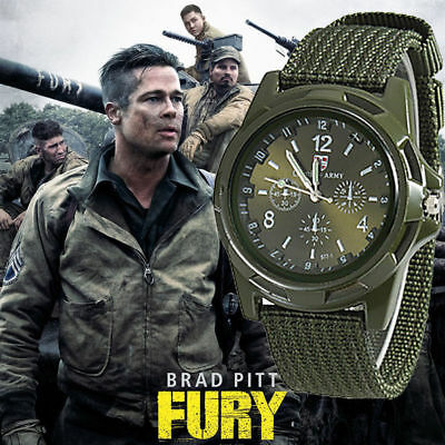 INFANTRY INFILTRATOR Mens Wrist Watch Analog Army Sport ARMY GREEN