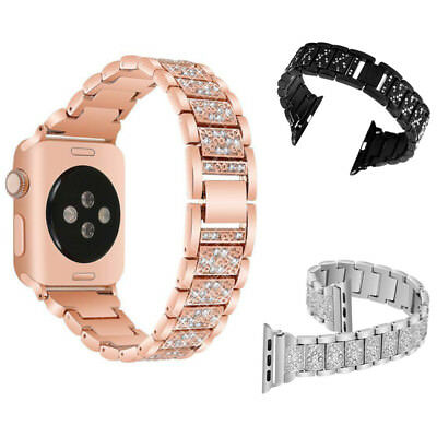 For Women Metal iWatch Stainless Steel For Apple Watch 3 2 1 42/38mm Band Belt
