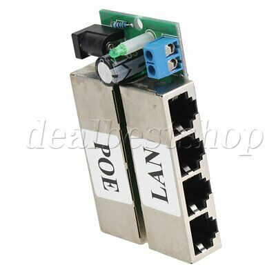 802.3af 4 Ports Passive POE injector Power Supply Module For AP IP Camera Phone