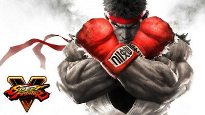 "058 Street Fighter - Fight Ryu Guile Ken ChunLi Game 42""x24"" Poster"