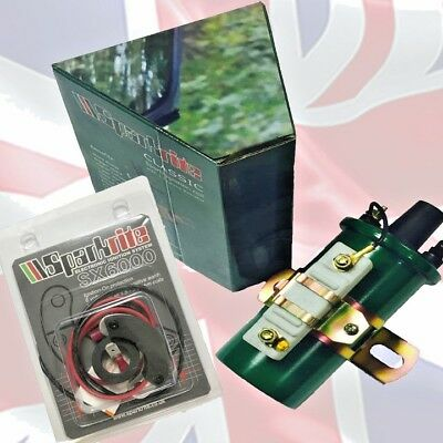 Sparkrite SX6000  Electronic ignition for Lucas 45D Distributors + Sports Coil