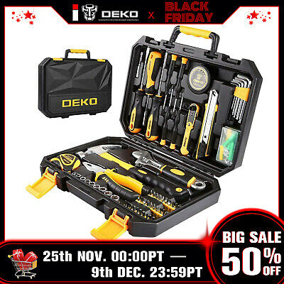 DEKO 100 PCS Tool Set Auto Repair Mixed Tool Socket Wrench Combination Package