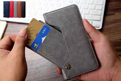 New Leather Magnetic Wallet Photo Card Holder Case Cover For iPhone X 8Plus 7 6S