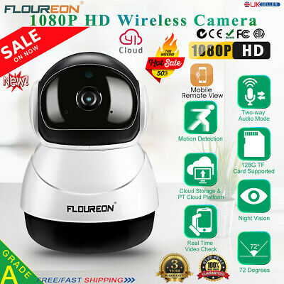 1080P Wireless WIFI IP Camera CCTV HD Baby Monitor Home Security IR CAM Pan/Tilt