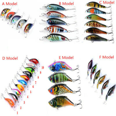 36 Types Min Minnow Fishing Lures Crank Bait Hooks Bass Crankbaits Tackle ZLT
