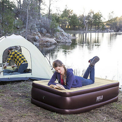 Bestway Queen Raised Inflatable Airbed Camping Mattress