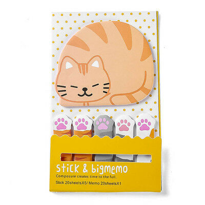 'Cat & Mini Paws' Post-It Sticky Notes Pack