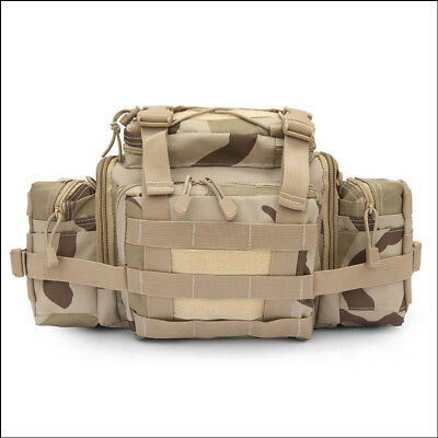 Outdoor Military Durable Waist Bag Pack Hiking Camping Storage Bag Camouflage
