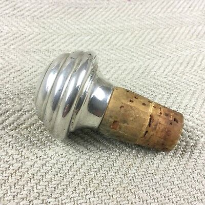 Antique WMF Silver Plated Bottle Stopper Cork Cap Art Deco