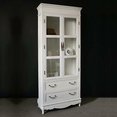 vitrinenschrank shabby landhaus weiss eur 1 00 picclick de. Black Bedroom Furniture Sets. Home Design Ideas