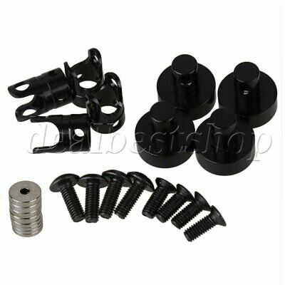 4pcs Black N10082 Aluminum Invisible Body Post Mount For RC 1:10 Model Cars New