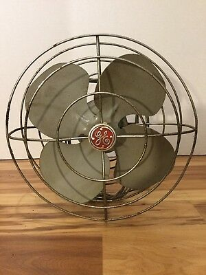 Vintage GE Electric Art Deco FHW21 Fan - Restorable