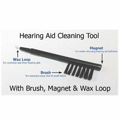 1PC Brand New Multi-function Hearing Aid Cleaning Brush Tool Kit with Wax Loop