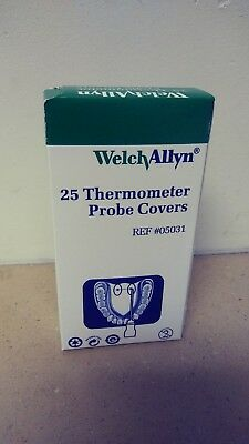Welch Allyn Thermometer Probe Covers Box Of 25  #05031