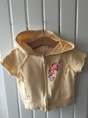 Little Girl's Clothes 5-6yrs - Lemon Embroidered Short Sleeve Hooded Jacket 🐥🐥