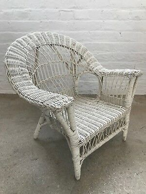 Vintage Children's Wicker White Chair, Good Condition!  $150