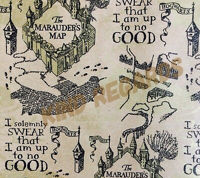 Luxury Harry Potter GiftWrapping paper Marauders Map Hogwarts I Solemnly Swear