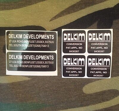 X2 delkim optonic conversion bite alarm stickers decals lea road address