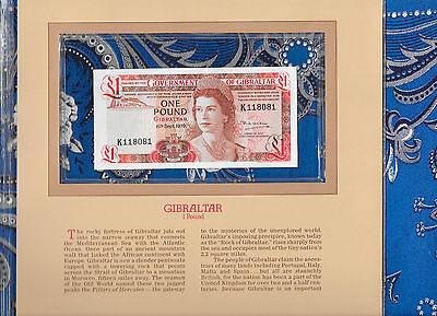 Most Treasured Banknotes Gibraltar 1 pound 1979 P20b Gem UNC K118081