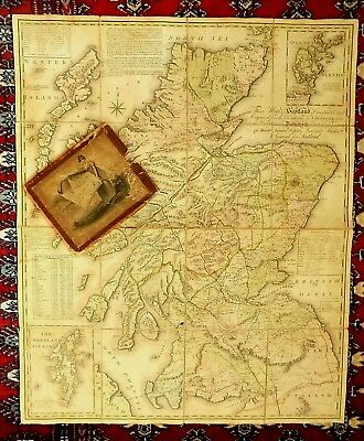 1804 Kirkwood Scotland Orkneys Shetlands Old Antique Map Slipcase Edinburgh RARE