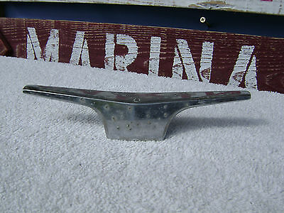 6+1/2 Inch Old Chrome Ship Boat Dock Cleat Chock (#0379)