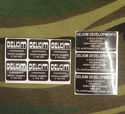 X3 delkim optonic conversion bite alarm stickers decals gold street address