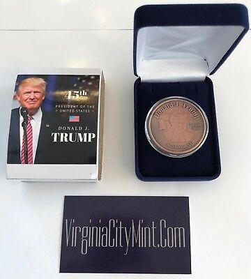 President Donald Trump...Make America Great Again.. Commemorative Coin in a Case