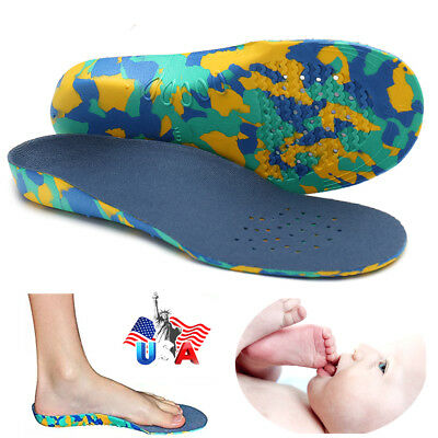 CFR Kids Children Insoles EVA Arch Support Plantar Orthotic Orthopedic Shoe US