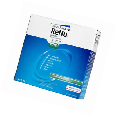 Renu Multiplus Contact Lens Solution 3x 240ml (3months' Supply) by Bausch&Lomb